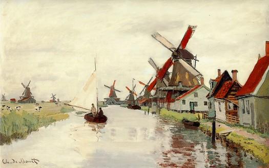 windmill_in_Holland__Monet